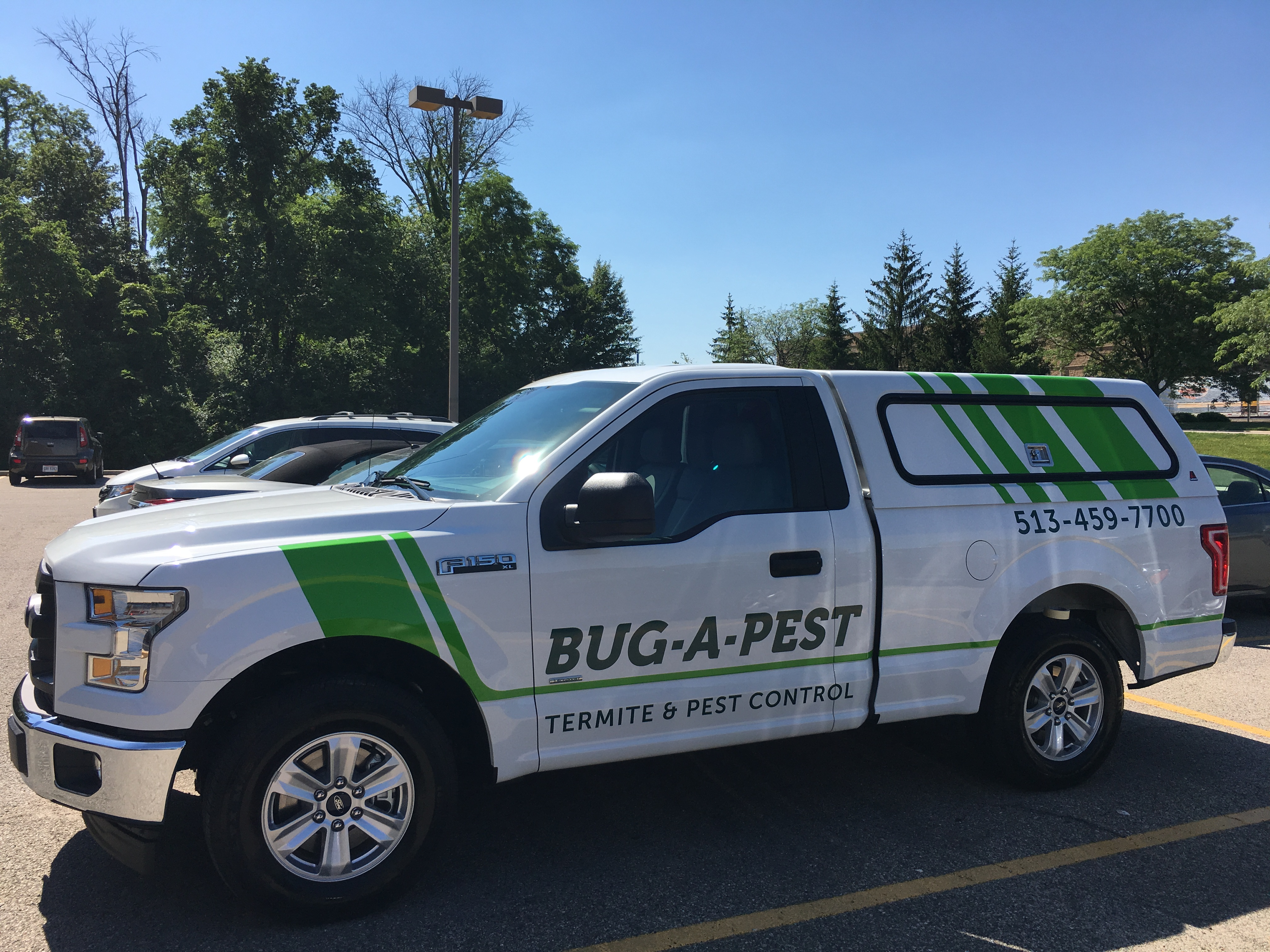 bug a pest truck with decal