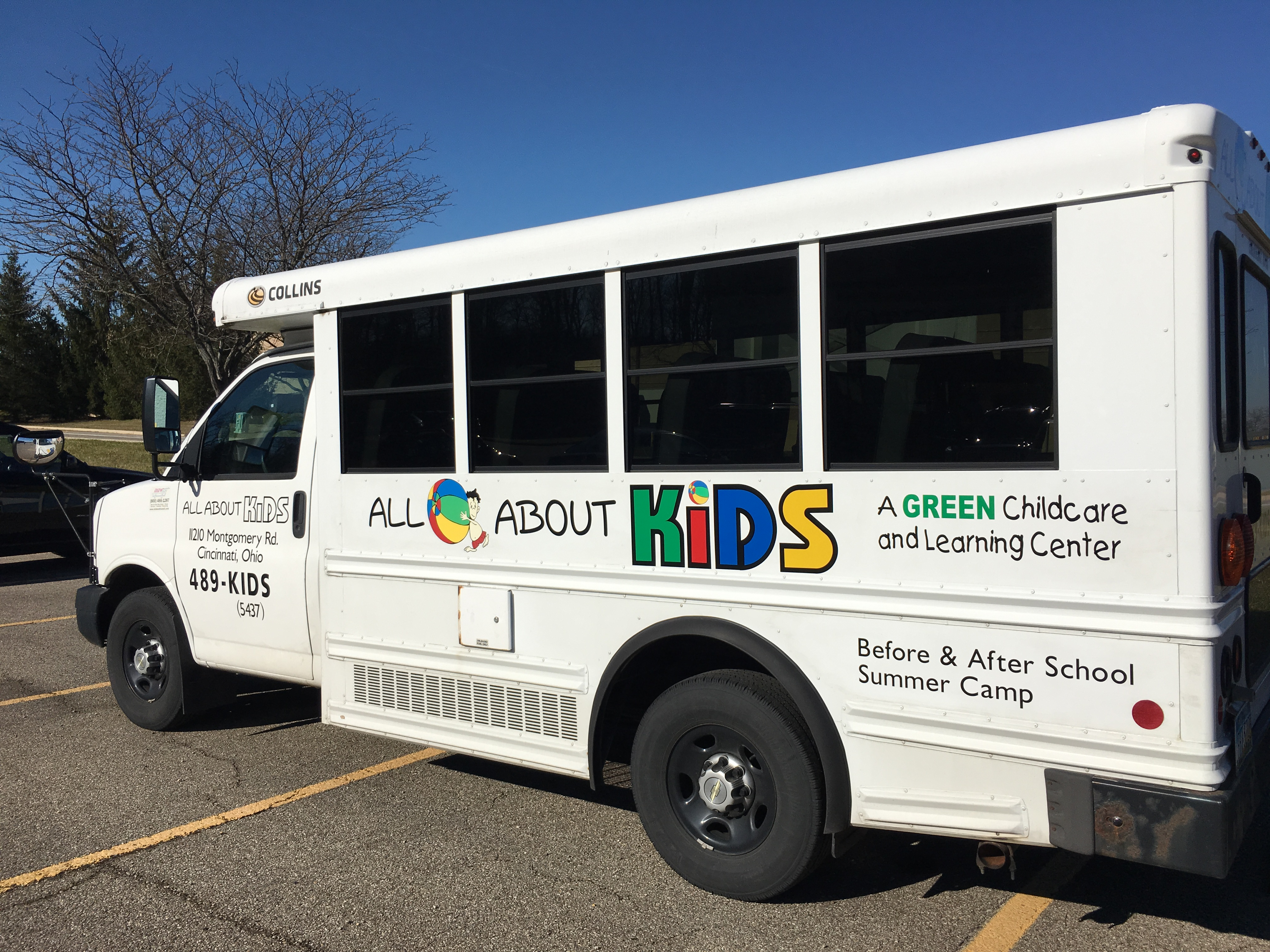 All About Kids Bus Vinyl